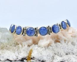 BLUE SAPPHIRE BRACELET NATURAL GEM 925 STERLING SILVER AB1