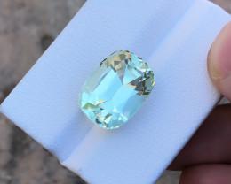 11.10 Ct Natural Greenish Transparent Kunzite Gemstone