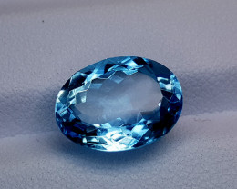7.45Crt Blue Topaz Natural Gemstones JI39