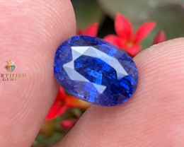 Certified Blue Sapphire from Madagascar