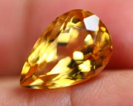 4.49ct Natural Yellow Citrine Pear Cut Lot GW8279