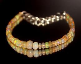 21 Crts Natural Ethiopian Welo Opal Beads Bracelet 30