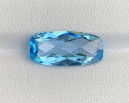 5.47 Cts Natural Blue Topaz Gemstone Good Luste