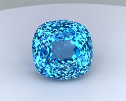 Top Quality 46.44 Cts Natural Top Swiss Blue Topaz Gemstone Good Luster