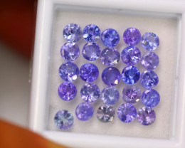 5.47ct Natural Violet Blue Tanzanite 3.5mm Round Cut Lot V8871