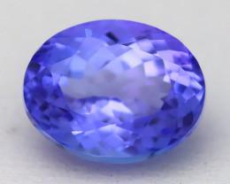 Tanzanite 2.79Ct VVS Oval Cut Natural Vivid Blue Tanzanite B2210