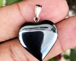 32.395 CT HEMATITE HEART SHAPE PENDANT 100% NATURAL UNHEATED