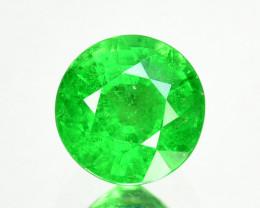 ~PRETTY ROUND~ 1.10 Cts Natural Tsavorite Garnet Vivid Green Kenya