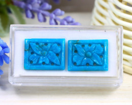16.35Ct 2Pcs Natural Blue Color Sleeping Beauty Turquoise C2314