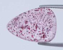10.39 Cts Underwater Fish Scenario Strawberry Quartz Natural Gemstone