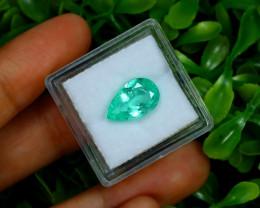 2.81Ct Colombian Muzo Emerald Neon Mint Green Beryl B2401