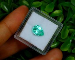 1.81Ct Colombian Muzo Emerald Neon Mint Green Beryl B2412