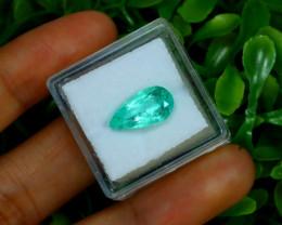 2.81Ct Colombian Muzo Emerald Neon Mint Green Beryl B2422