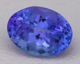 Tanzanite 1.34Ct VVS Natural Oval Master Cut Vivid Blue Tanzanite A2316