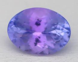 1.53Ct VVS Oval Cut Natural Purplish Blue Tanzanite A2335