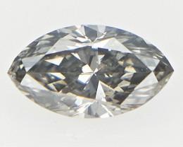 0.10 cts  , Grey Natural Diamond , Rare Sparkling Marquise Diamond