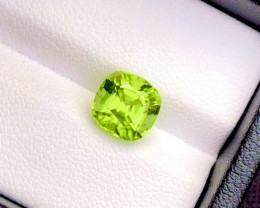 Parrot Green Color 2.70Ct Natural Step Cushion Cut Top Quality Peridot