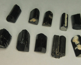 Wow Black Tourmaline Crystals 10 pieces Lot For Wire Wrap & Jewelry