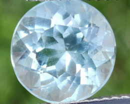 3.40 CTS NICE NATURAL AQUAMARINE 9.56MM ROUND INDIA