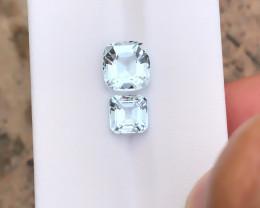 3.50 Ct Natural Light Blueish Transparent Aquamarine Gemstones Parcels