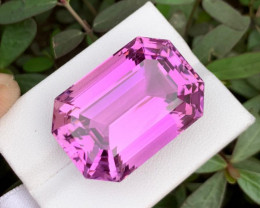 IF 65 CT Beautiful Color Emerald Cut Kunzite From Afghanistan