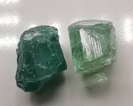 Tourmaline, 5.57ct rough pair in nice colours!