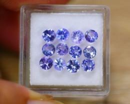 3.55ct Natural Violet Blue Tanzanite 4.20mm Round Cut Lot V8908
