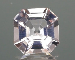 Inaugural Offer! NR 6mm Asscher Cut Pink Moragnite
