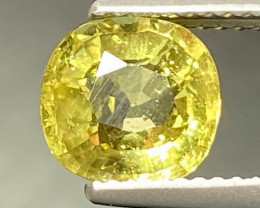 2.31ct Apatite - UNHEATED Yellow Brazil. 8.2 x 7.8mm
