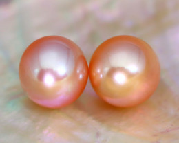 8.0mm 7.81Ct Natural Australian South Sea Orange Color Pearl C2503