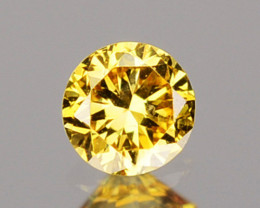 0.07 Cts Natural Untreated Diamond Fancy Yellow Round Cut Africa