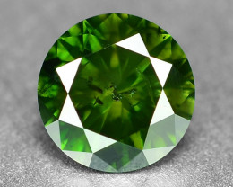 *No Reserve* Diamond 0.33 Cts Sparkling  Fancy Green Color Natural Diamond