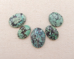 D1270 - 20cts Lucky Turquoise, Handmade Gemstone, Turquoise Cabochons, Luck