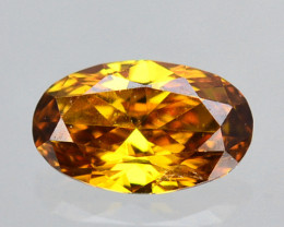 ~UNTREATED~ 0.11 Cts Natural Diamond Fancy Yellow Oval Cut Africa