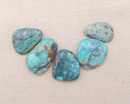 D1275 - 28cts Lucky Turquoise, Handmade Gemstone, Turquoise Cabochons, Luck