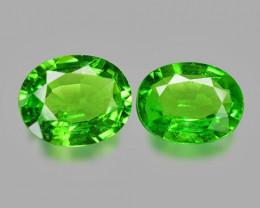 Tsavorite 0.94 Cts 2Pcs Rare Unheated Vivid Green Natural Garnet
