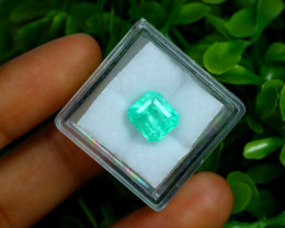 3.12Ct Colombian Muzo Emerald Neon Mint Green Beryl A2502
