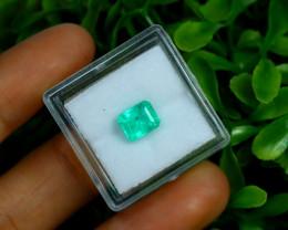 1.37Ct Colombian Muzo Emerald Neon Mint Green Beryl A2504
