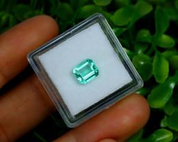 1.19Ct Colombian Muzo Emerald Neon Mint Green Beryl A2509