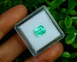 1.35Ct Colombian Muzo Emerald Neon Mint Green Beryl A2512