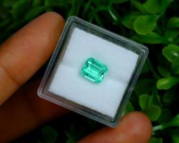 1.46Ct Colombian Muzo Emerald Neon Mint Green Beryl A2520