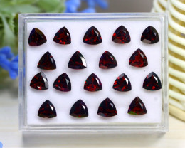 Garnet 16.61Ct Trillion Cut Natural Almandine Garnet Lot Box A2531
