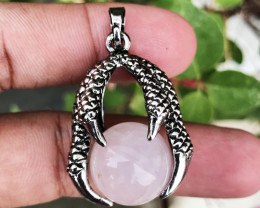 66.830 CT ROSE QUARTZ CLAW CHARMS 100% NATURAL UNHEATED PENDANT
