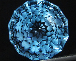 18.75Cts Sparkling Natural Baby Swiss Blue Topaz Round  Custom Cut Loose Ge