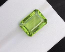 NR!! Natural 6.35 Ct Parrot Green Peridot