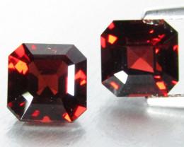 4.82Cts Genuine Natural Unheated Almandine Garnet Asher Cut Matching pair V