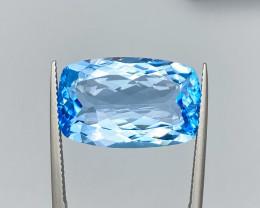 Natural Sky Blue Topaz 19.5 Cts Rare shape