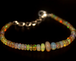 20 Crts Natural Ethiopian Welo Opal Beads Bracelet 36