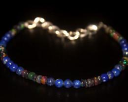19.55 Crt Natural Welo Smoked Opal & Lapis Bracelet 47