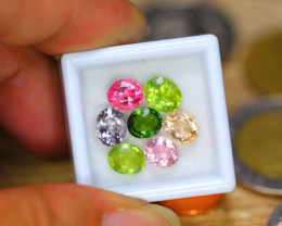 6.89ct Natural Fancy Color Tourmaline Oval Cut Lot B3355